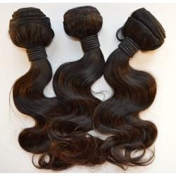 Lot de 3 paquets 14 pouce - ondulé remy hair tissage brésilien big wave